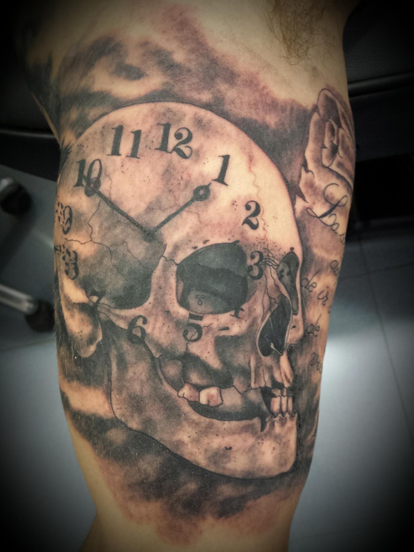 calavera-skull-craneo-Jorge García-Tatuajes L'Eliana
