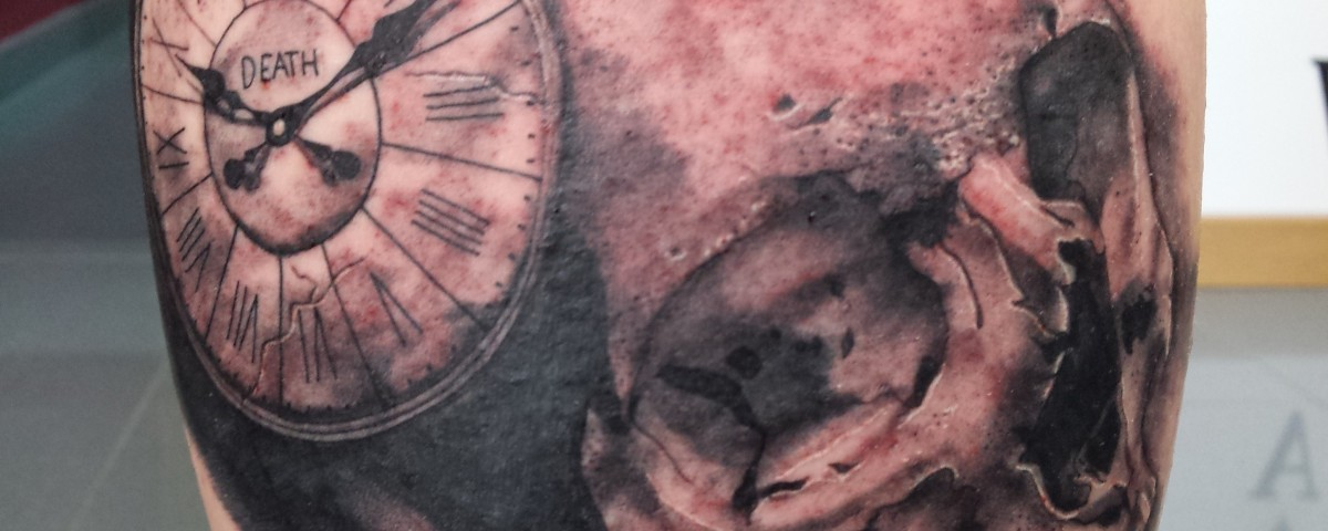 skull-calavera reloj-Jorge García-Tatuajes L'Eliana