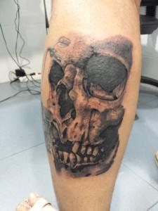 calavera-skull-Jorge García-Tatuajes L'Eliana