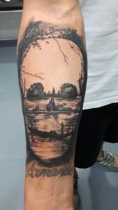 Tattoo calavera-skull-Tatuajes L'Eliana-Jorge García