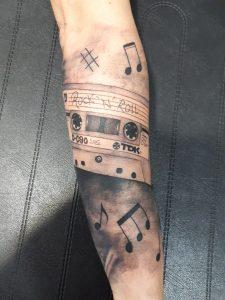 Tattoo cinta casette tdk-Jorge Terrorize-Tatuajes L'Eliana